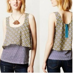 Anthropologie | Meadow Rue Layered Tank Top